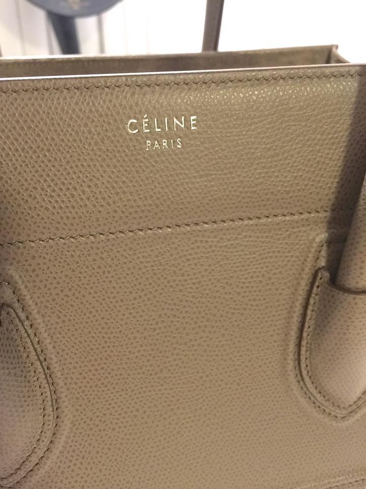 celine taupe and blue tote
