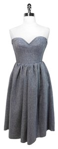 Le Shack short dress Gray Denim Shimmer on Tradesy