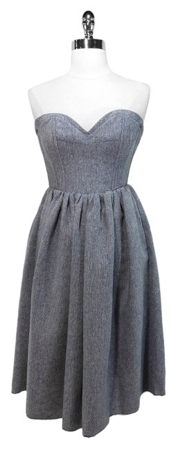 Preload https://item2.tradesy.com/images/gray-strapless-shimmer-denim-above-knee-short-casual-dress-size-2-xs-1053696-0-0.jpg?width=400&height=650
