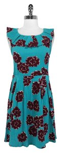 Marc Jacobs short dress Turquoise and Maroon Marc By on Tradesy
