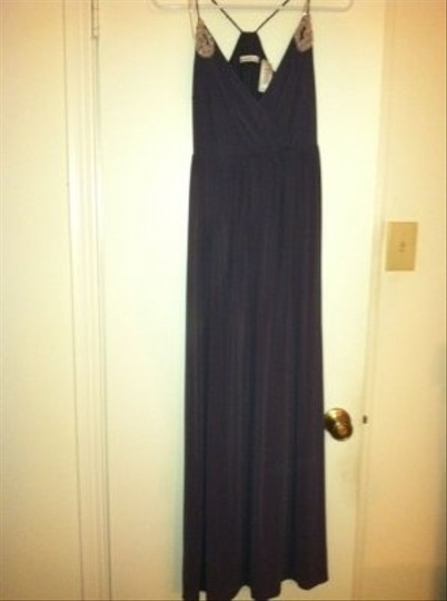 Grey Gray Silk Spandex Nylon Design Feminine Bridesmaid/Mob Dress Size 6 (S)