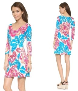 Diane von Furstenberg short dress GIANT FLORAL MULTI on Tradesy