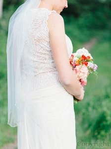 David's Bridal Cream Off White Medium Length Bridal Veil