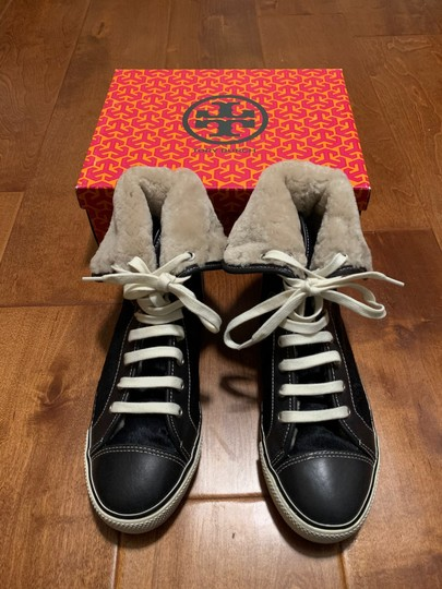 Tory Burch Sneaker Sneaker Cap Toe Leather High Tops Blue Flats Image 1