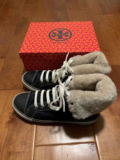 Tory Burch Sneaker Sneaker Cap Toe Leather High Tops Blue Flats Image 3