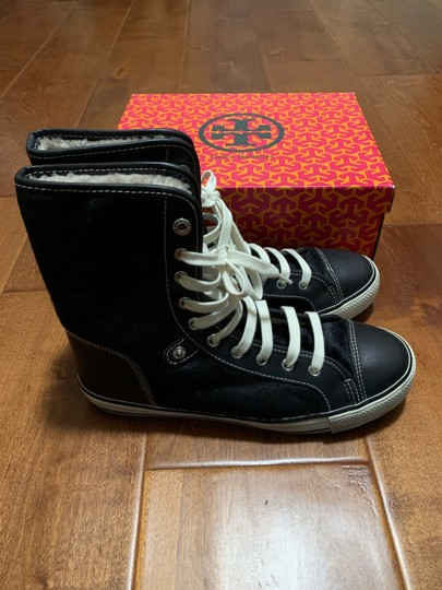 Tory Burch Sneaker Sneaker Cap Toe Leather High Tops Blue Flats Image 4