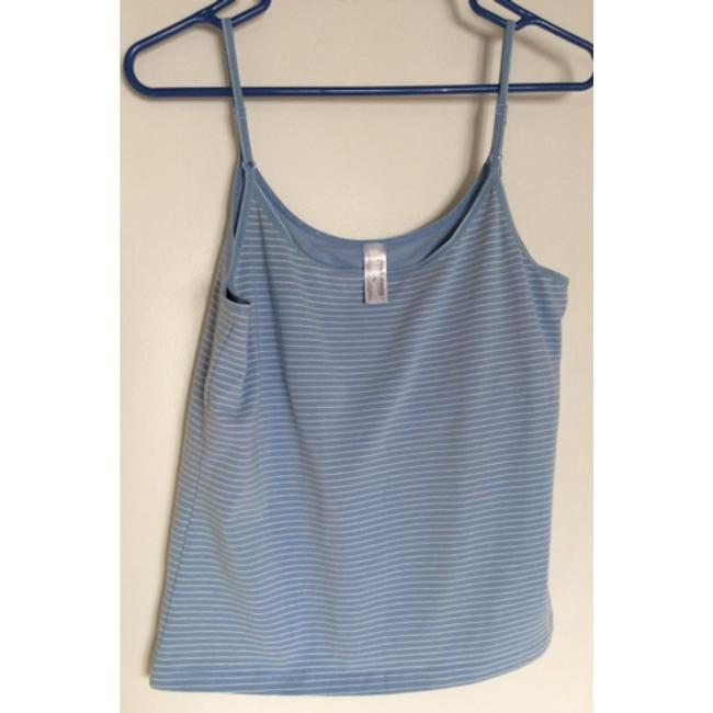 French Dressing Jeans Top Light blue and white