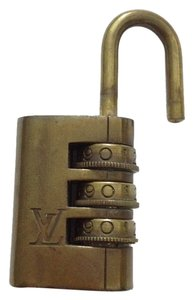 Louis Vuitton Louis Vuitton #4408 Gold Tone Brass Lock And Key Passlock for Speedy 25 30 35 Keepall 45 50 55 60 Sac Souple Alma
