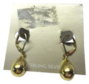Giani Bernini Giani Bernini 24k Gold over Sterling Silver Teardrop Earrings brand New