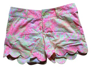 Lilly Pulitzer Glow In The Dark Preppy White Buttercup Buttercup Mini/Short Shorts Yellow, Pink