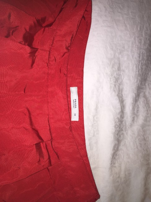 Prada Cocktail Special Occasion Skirt Red