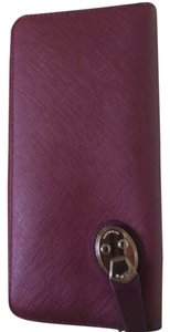 Tumi Burgundy/Purple Zip Wallet