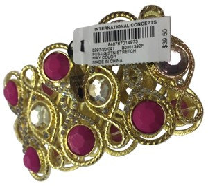 INC International Concepts I.N.C. International Concepts Pink, Gold with Faux Diamonds Bracelet