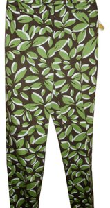 Talbots Tropical Botanical Floral Straight Pants