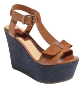 7 For All Mankind Brown Wedges