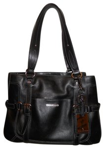 Etienne Aigner Leather Tote in black