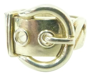 Hermès Hermes sterling silver 925 buckle ring. Size 5.5
