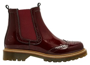 Bronx Chelsea Wingtip Patent Leather oxblood Boots