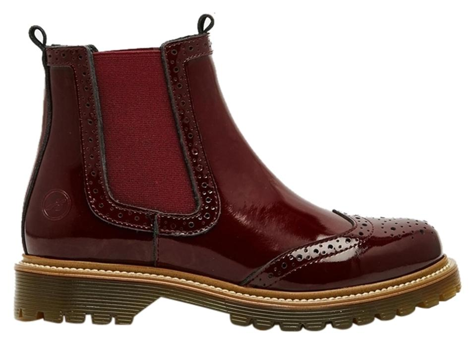 buy online d6abc 77296 Bronx Oxblood Chelsea Wingtip Patent Leather Boots/Booties Size US 8.5 33%  off retail