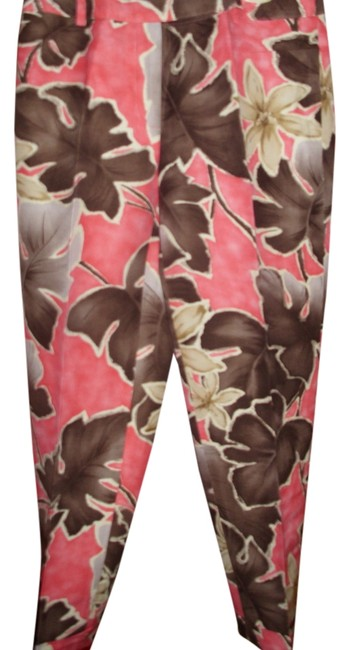 Talbots Linen Silk Tropical Botanical Resort Capris
