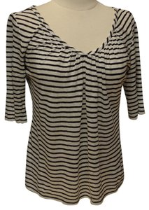 Max Mara Stripe Knit T Shirt black/white