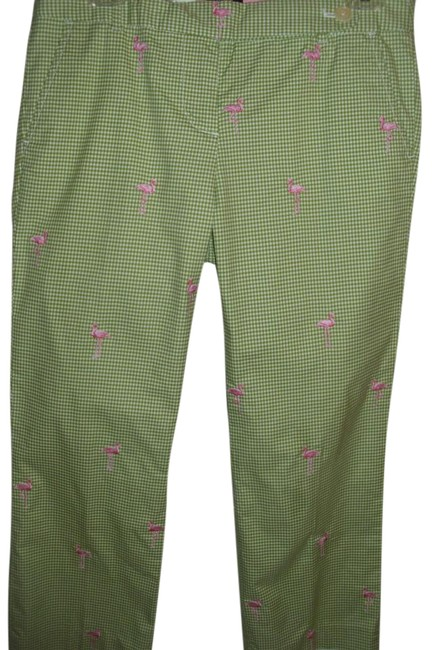 Preload https://img-static.tradesy.com/item/1054348/jcrew-green-gingham-resort-wear-pink-flamingo-cotton-stretch-capris-size-4-s-27-0-4-650-650.jpg