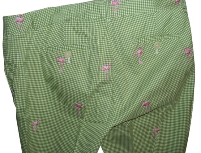 J.Crew Gingham Plaid Preppy Resort Cotton Capris green