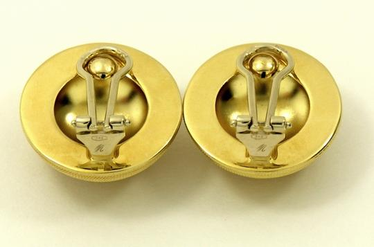 Other Vintage Italian Dome Yellow Gold Earrings