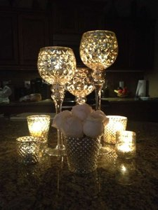 Beautiful Gold Mercury Centerpieces