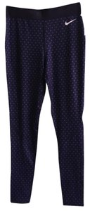 Nike Nike Purple Polka Dot Workout Tights Pants