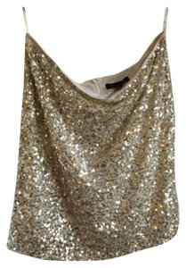 White House | Black Market Mini Skirt Gold/silver