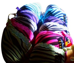 Lukasi 6 Pack of Bras - Size 36B Various colors, Push up w/underwire