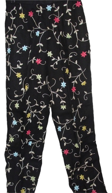 Talbots Exclusive Rare Artsy Whimsical Fun Trouser Pants