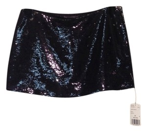 Forever 21 Nwt Sequined Mini Skirt Black