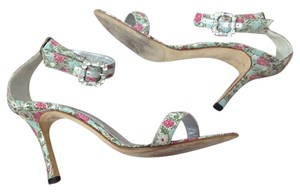 Manolo Blahnik Flowers Sandals