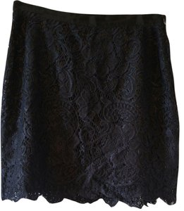 LC Lauren Conrad Lace Skirt Black