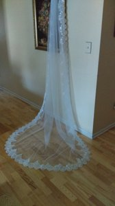 Gorgeous Cathedral Sequin Veil Light Ivory