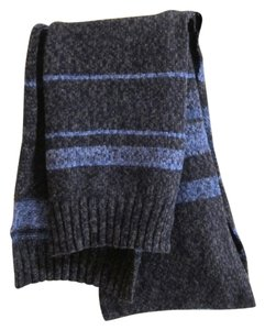 Banana Republic Banana Republic 100% Merino wool blue black scarf - Unisex