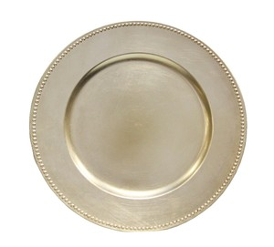 Champagne Gold/Silver Gold/Silver Charger Plates Each (Any Quantity Up To 200) Tableware