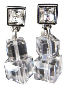 Swarovski Swarvoski Crystal Drop Clip On Earings