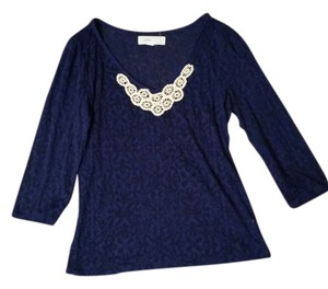 Anthropologie Top Dark Blueish Purple