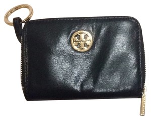 Tory Burch Tory Burch Black Leather Dena Zip Coin Case