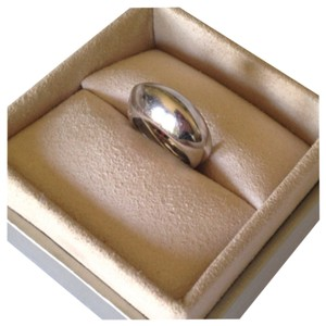14KT White Gold Dome Ring