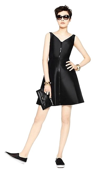 Preload https://img-static.tradesy.com/item/10547221/kate-spade-black-zip-up-msrp-above-knee-cocktail-dress-size-8-m-0-1-650-650.jpg