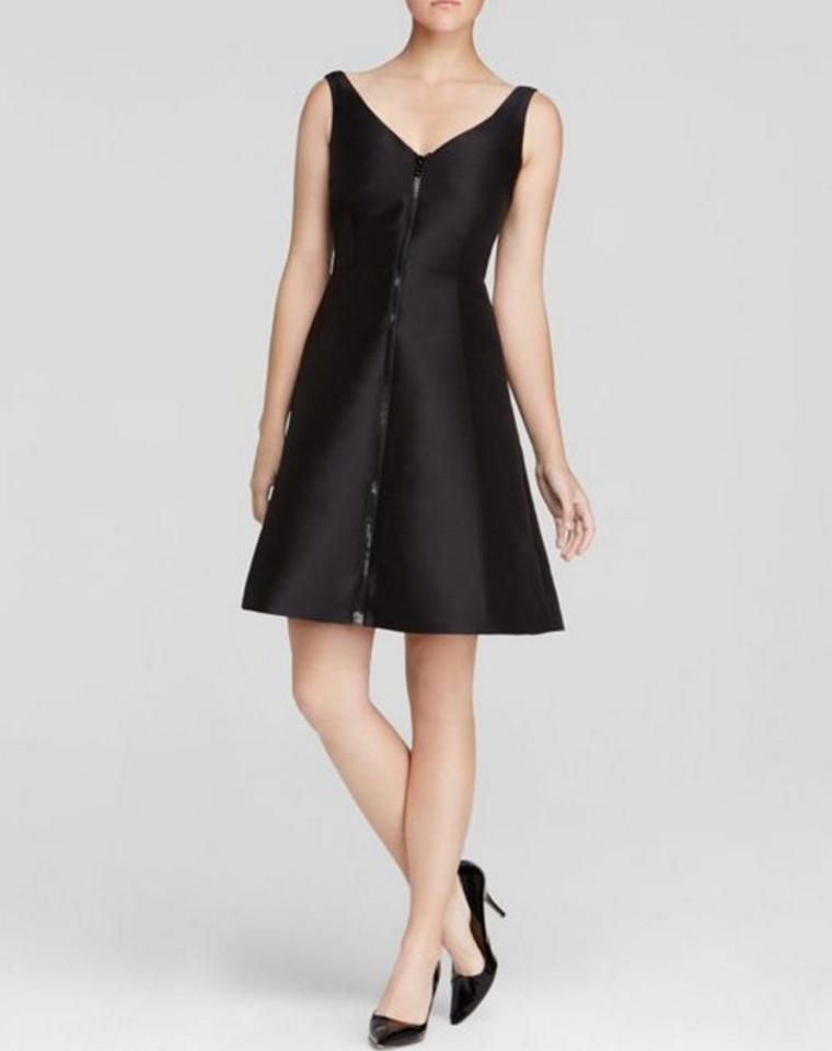 8ce93ae5cad Kate Spade Black Zip Front Above Knee Cocktail Dress Size 8 (M ...