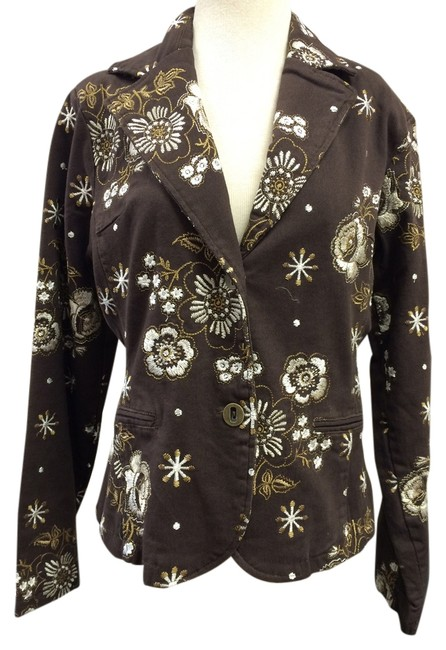 Paparazzi Embroidered brown Blazer
