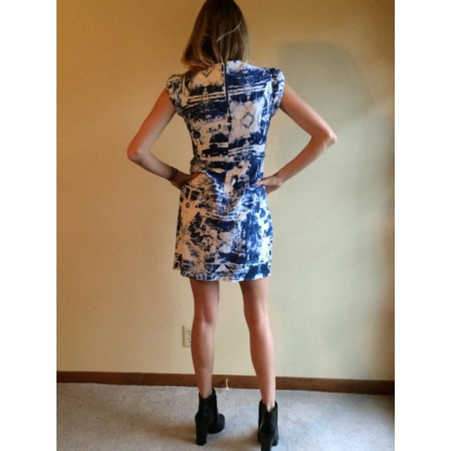 French Connection short dress blue white pattern on Tradesy