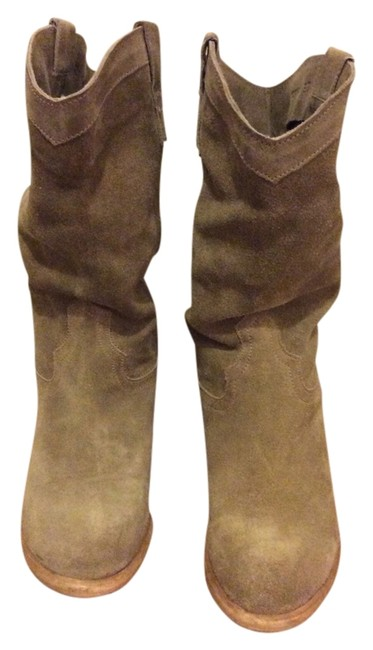 Item - Taupe Cowboy Suede Slouchy Boots/Booties Size US 7 Regular (M, B)