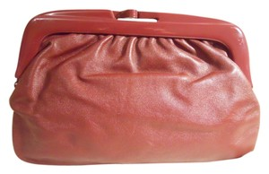 Other Vintage Leather burgundy Clutch
