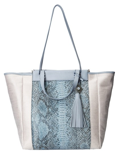 Preload https://img-static.tradesy.com/item/10548223/rafe-new-york-joey-silver-metallic-textile-and-leather-tote-0-1-540-540.jpg